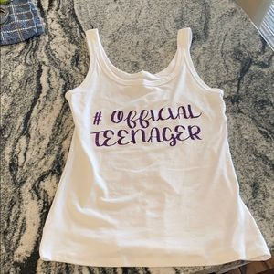 Official teenager tank